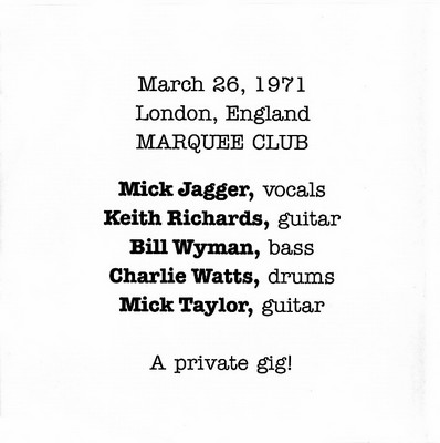 At The Marquee Club